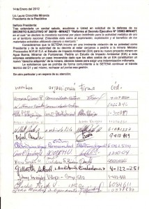 Piden a SETENA rechazar trámite técnico de mina en Miramar . CRH