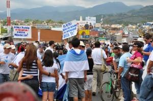Los vecinos de Pérez Zeledón aseguraron que vendrá el miércoles a protestar frente a la Asamblea Legislativa. CRH