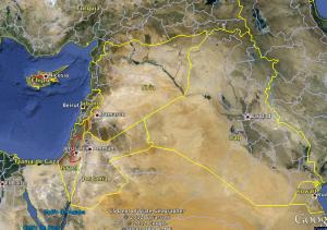Mapa de Google Earth que permite visualizar la ubicación de Siria. CRH