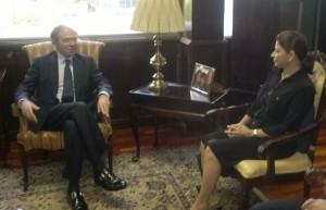 Presidente del Senado de España se reúne con Chinchilla. CRH