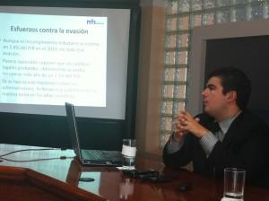 En la imagen, el nuevo Viceministro de Hacienda, Álvaro Ramos. CRH