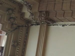 En el templo católico de Naranjo se abrieron grietas en sus paredes. CRH
