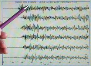 Once sismos registrados solo en la madrugada. CRH