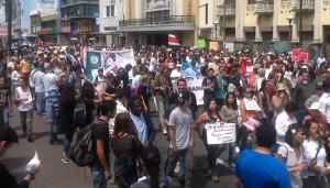 Estudiantes, diputados y ciudadanos de diversas partes del país marcharon hoy. CRH