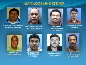 """La Policía Nacional de Nicaragua emitió a una orden de captura contra estos hombres, a quienes vincula con """"El Palidejo"""". Foto Cortesía Policía Nicaragua."""