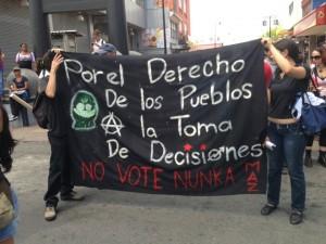 Grupo Anarquista se hace presente en marcha del Día del Trabajador. CRH