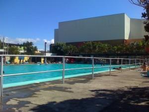 Área de piscina del Palacio de los Deportes en Heredia.