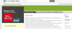 Bomberos de Costa Rica estrenó app para Android.CRH