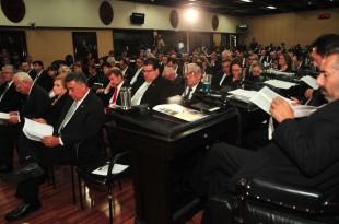 Ministros, diputados e invitados especiales escucharon el discurso. (Herbert Arley para CRH)